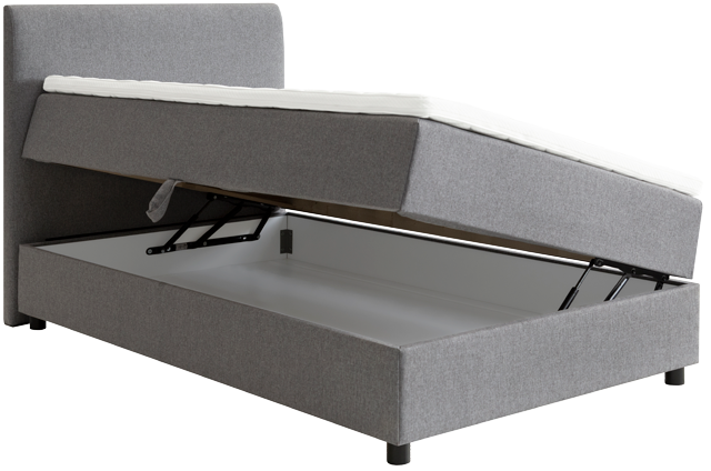 Trenger du oppbevaringsplass for ekstra dyner eller sengetøy, kan en seng med oppbevaring være et godt tips – hos Møbelringen finner du flere varianter av North Beds rammeseng med smart rom for oppbevaring.