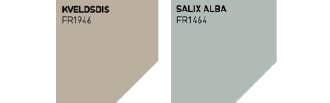 Fargerike palett: Kveldsdis og Salix Alba