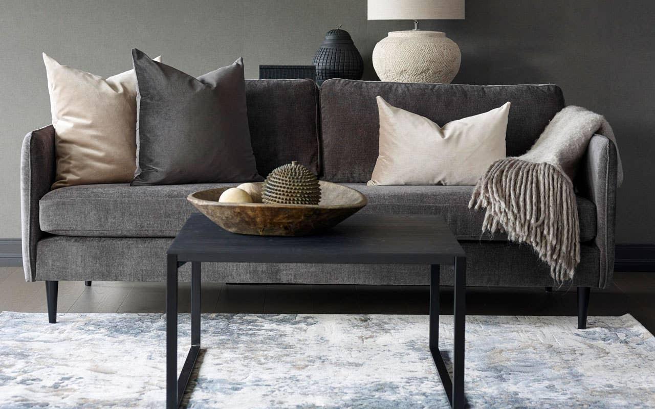 Hvordan innrede stuen, ton-i-ton. Siero sofa.