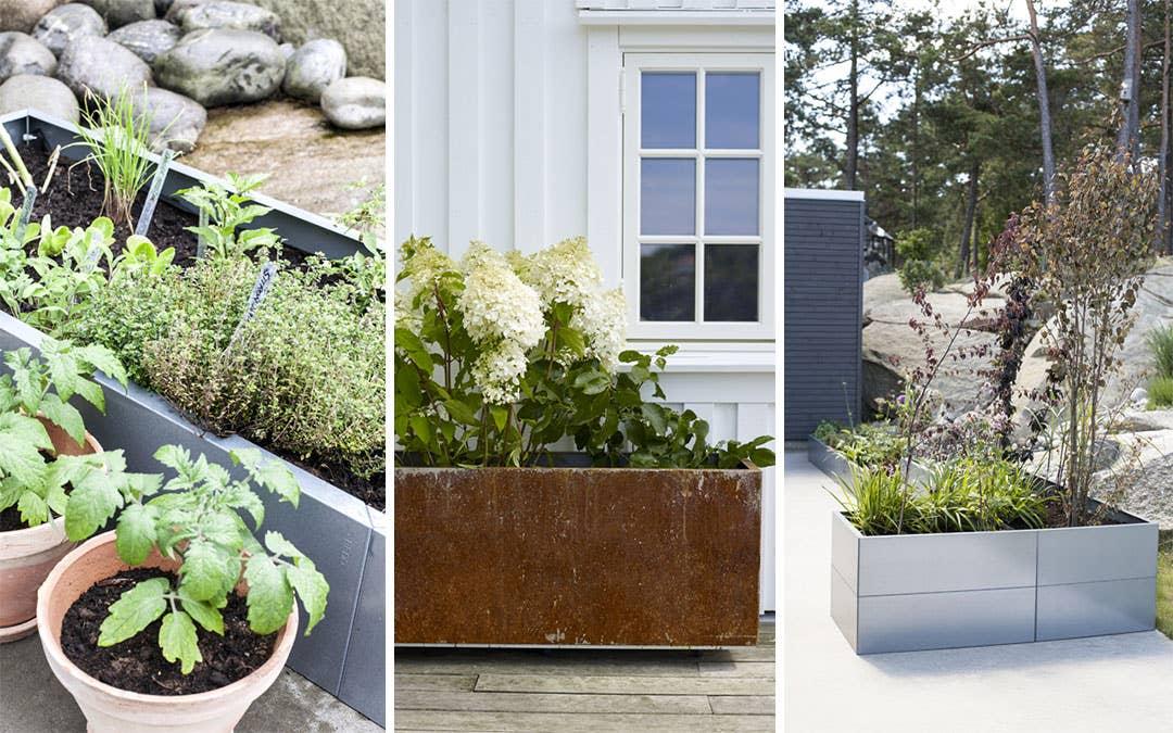 Bygg din egen drømmehage med plantekassene fra BEDD – uansett hvor stor eller liten uteplassen din er.