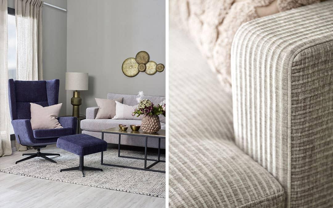 Passion sofa og Narvik lenestol har den myke komforten og behagelige fargepaletten som er i vinden nå.