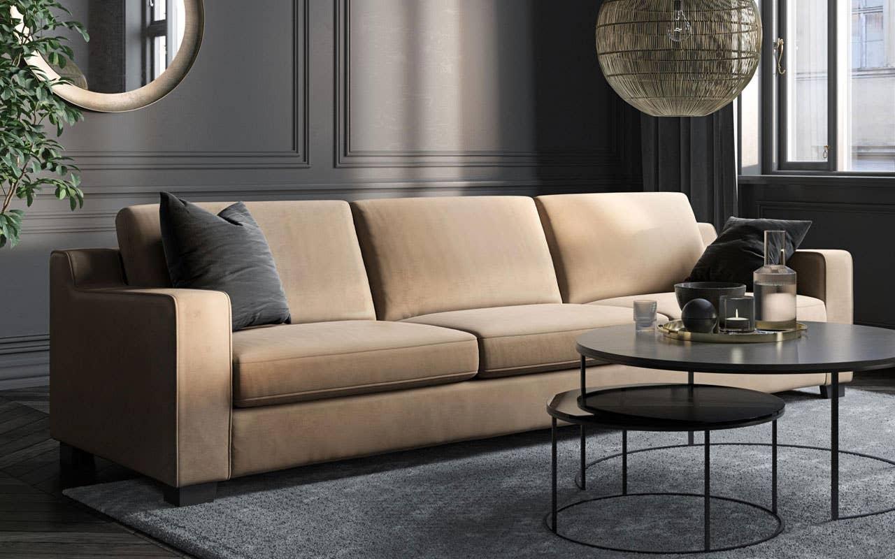 Embla er en sofaserie i et flott, klassisk design med veldig god sittekomfort. Sofaens flotte detaljer gjør den annerledes, men tidløs. Embla fåes i mange oppsett og kombinasjoner.