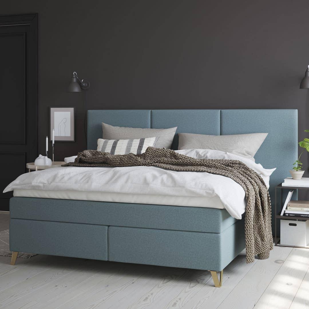 Wonderland Smaragd fåes i størrelser opp til 210 x 210, så du kan få plass til å strekke deg godt ut – uansett hvilken vei du ligger i sengen.