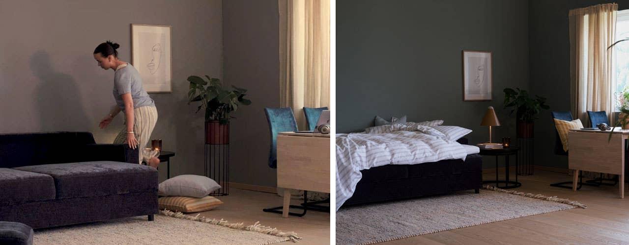 En god sovesofa er god å sitte i på dagtid, og komfortabel når kvelden kommer og du skal sove. Den bør også være enkel å slå ut til seng, og enkel å rydde bort når du vil at soverommet skal bli stue igjen.