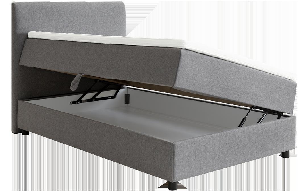 Odin rammeseng med oppbevaring gir deg ekstra plass til å gjemme vekk for eksempel sengetøy og håndklær, eller ekstra dyner og puter.