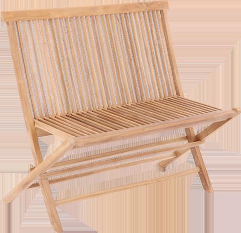 Skagen klappbenk tar liten plass når den er foldet sammen, men gir deg raskt sitteplass til flere gjester når du har behov for det.