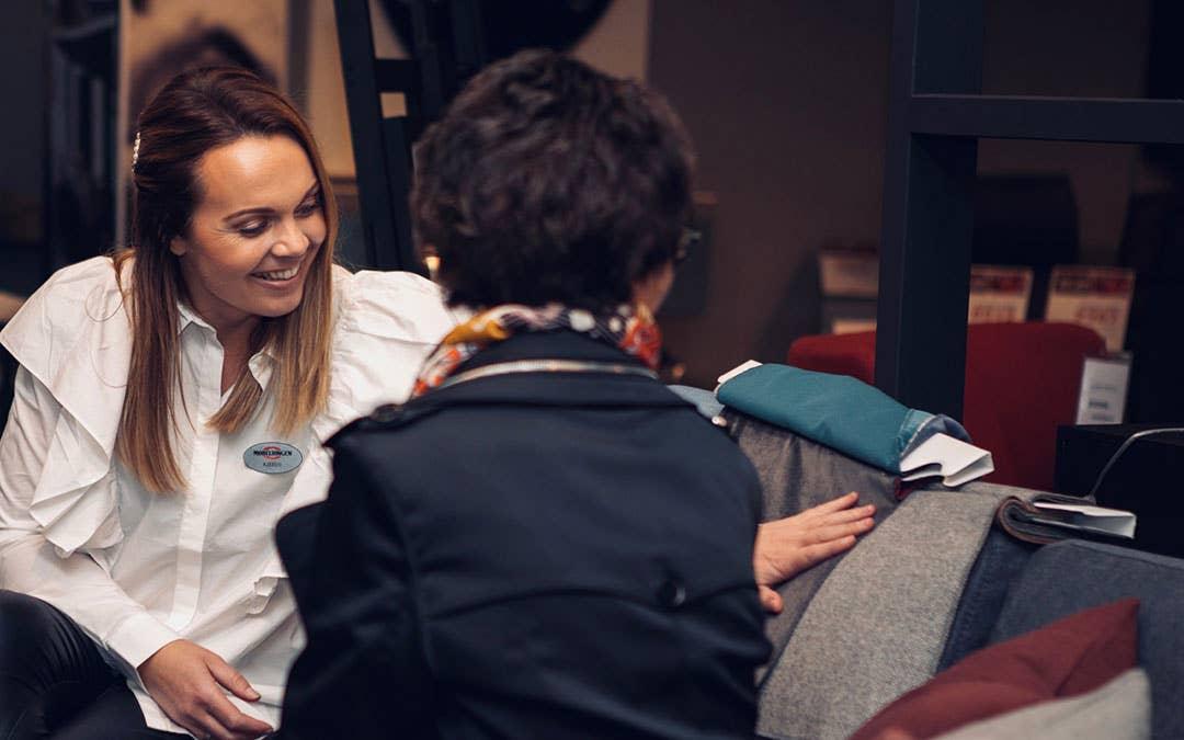 Skreddersøm og personlig veiledning er nøkkelen til glade og fornøyde kunder. Kjersti Rostad i Møbelringen i Orkanger deler gjerne sin fagkunnskap når kunder trenger hjelp til å finne de beste løsningene.