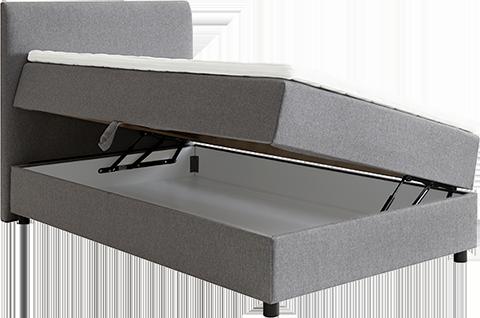 En rammeseng med oppbevaringsplass er en smart løsning for små soverom eller soverom som har en vanskelig utforming – som skråtak.