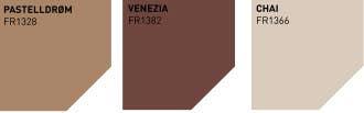 Fargerike palett i bildeserien: Pastelldrøm, Venezia og Chai.