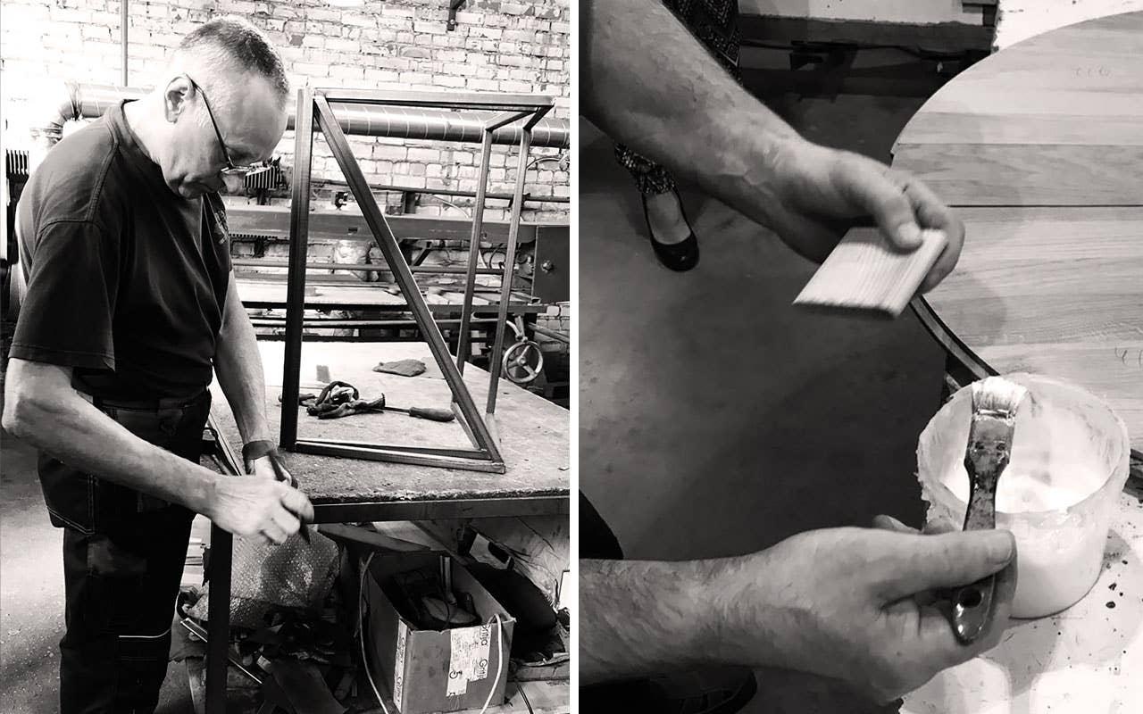 Kvalitet er et viktig nøkkelord for både materialene og produksjonen av Woodstorymøblene. Hvert møbel blir produsert etter bestilling.