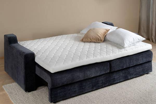 Embla sovesofa 3-seter. Tips! Med en overmadrass på sovesofaen får du optimal liggekomfort!