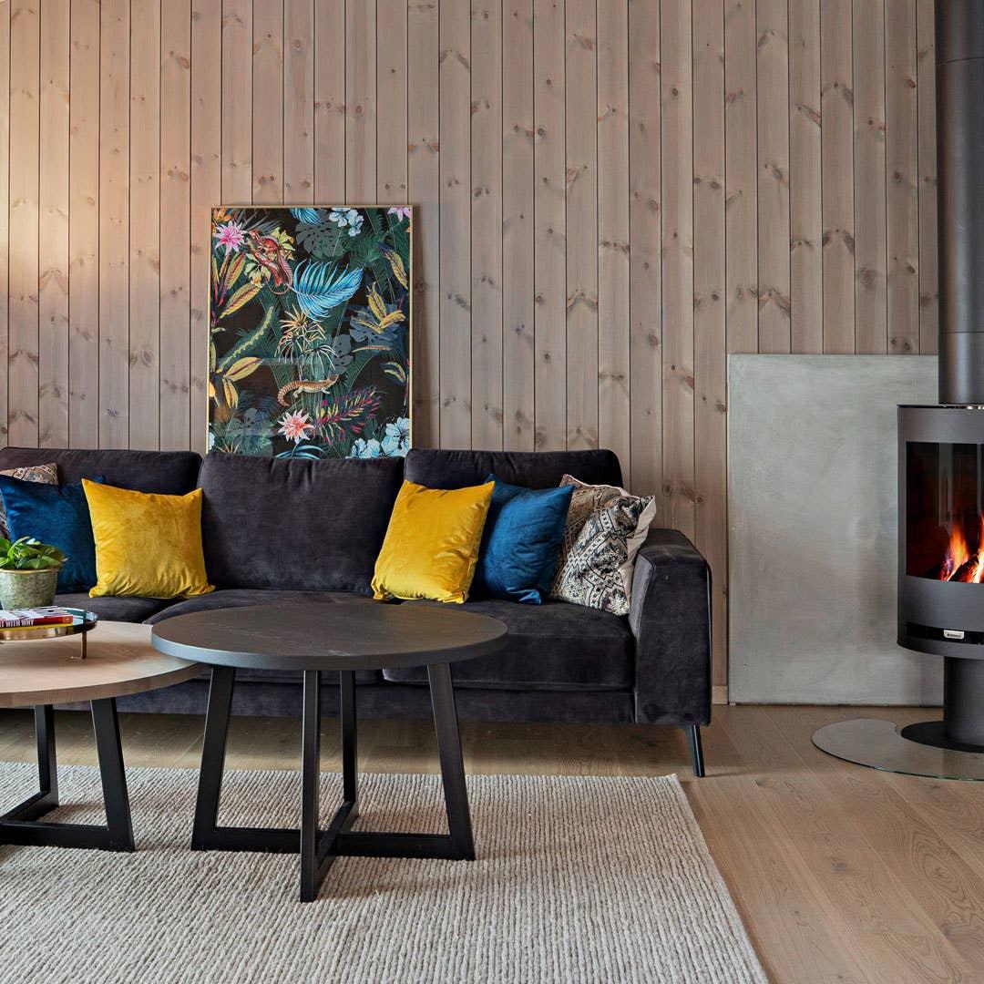 WoodStory H3 sofabord | Sirdal teppe | Jungle glassbilde