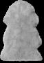 Long wool lammeskinn 45x80 cm